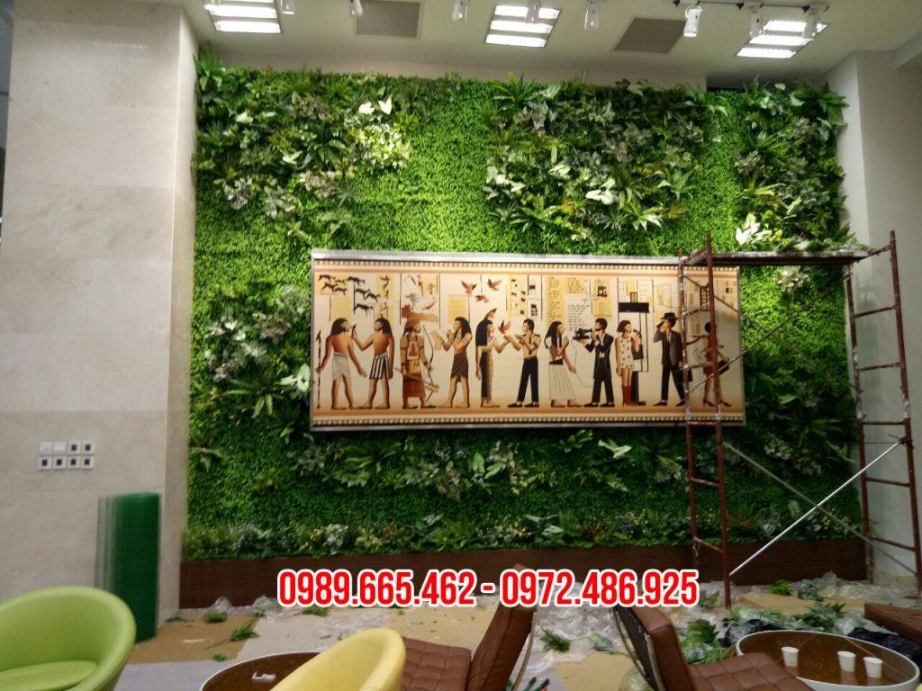 tường cây giả đẹp
