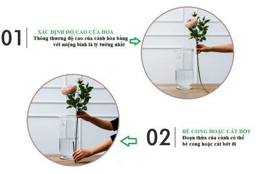 cách cắm hoa giả