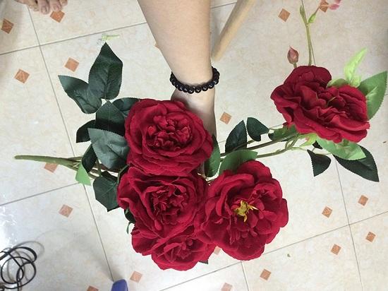 hoa hong cành 6 bông